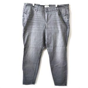 Loft Pure Grey Denim leggings